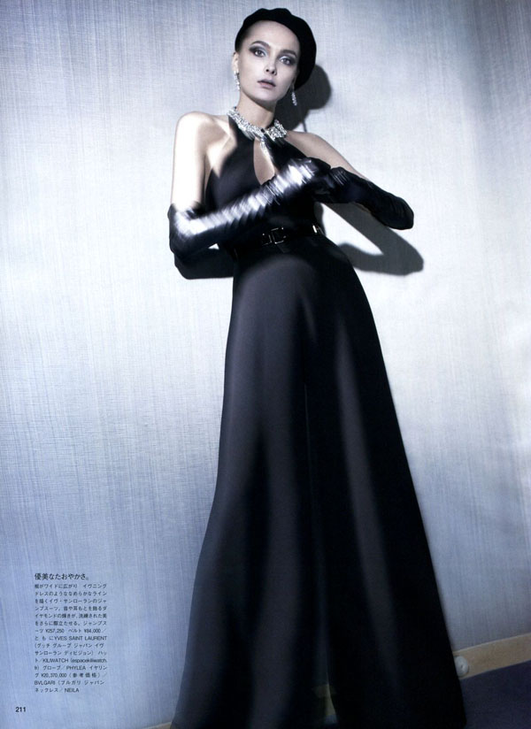 Snejana Onopka by Glen Luchford for Vogue Japan July 2011