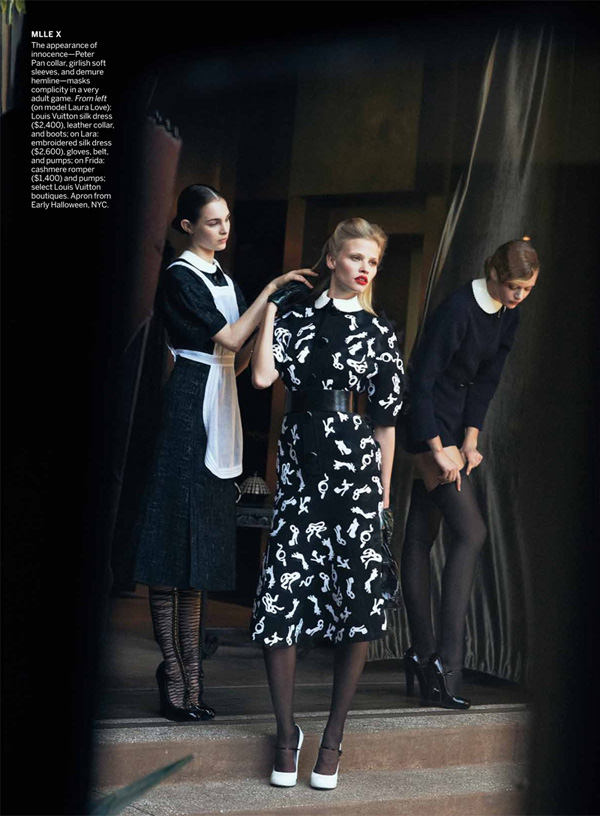 Lara Stone & Frida Gustavsson by Peter Lindbergh for Vogue US July 2011