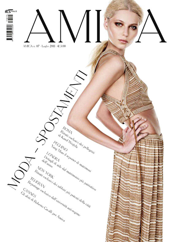 Amica July 2011 Cover | Vika Falileeva by Nadir