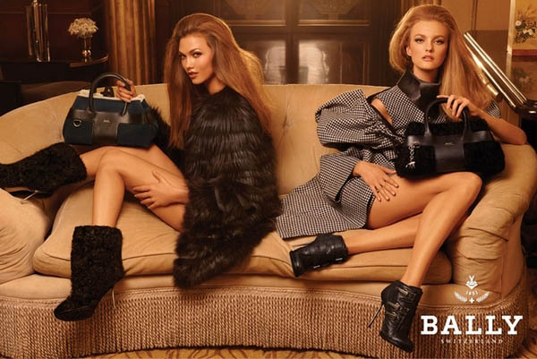 Bally Fall 2011 Campaign Preview | Karlie & Caroline by Steven Meisel