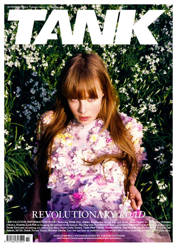 Tank Summer 2011 Cover | Edie Campbell by Viktor Vauthier