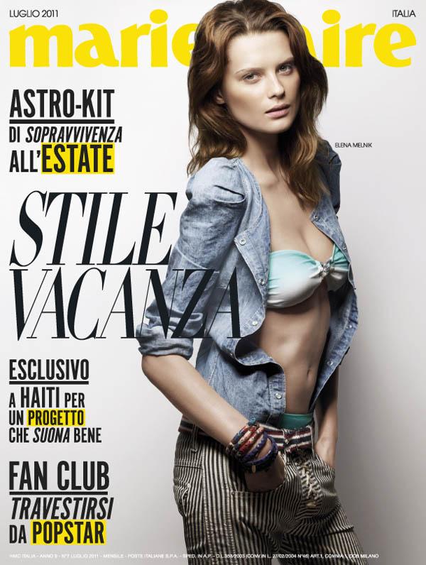 Elena Melnik for Marie Claire Italia July 2011 (Cover)