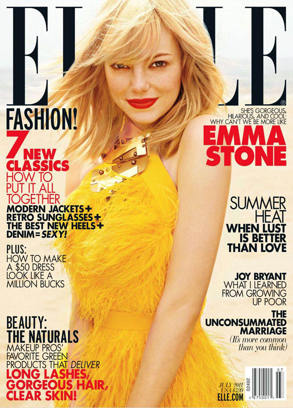 Elle US July 2011 Cover | Emma Stone by Carter Smith
