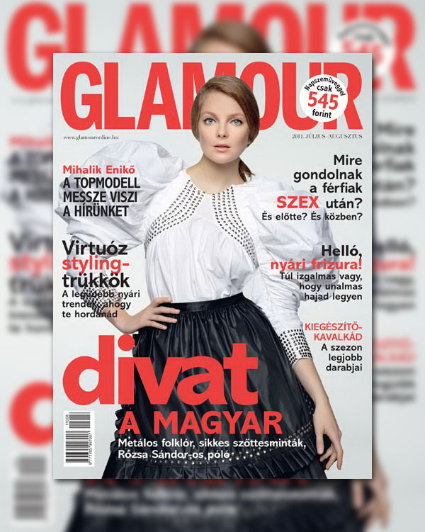 Glamour Hungary July/August 2011 Cover | Eniko Mihalik by Marcel Gonzalez-Ortiz