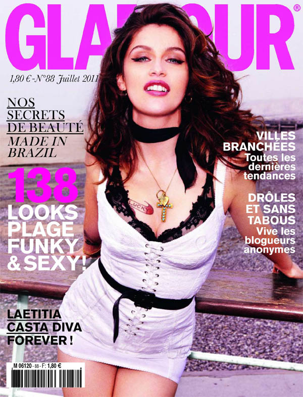 Glamour France July 2011 Cover | Laetitia Casta by Ellen von Unwerth
