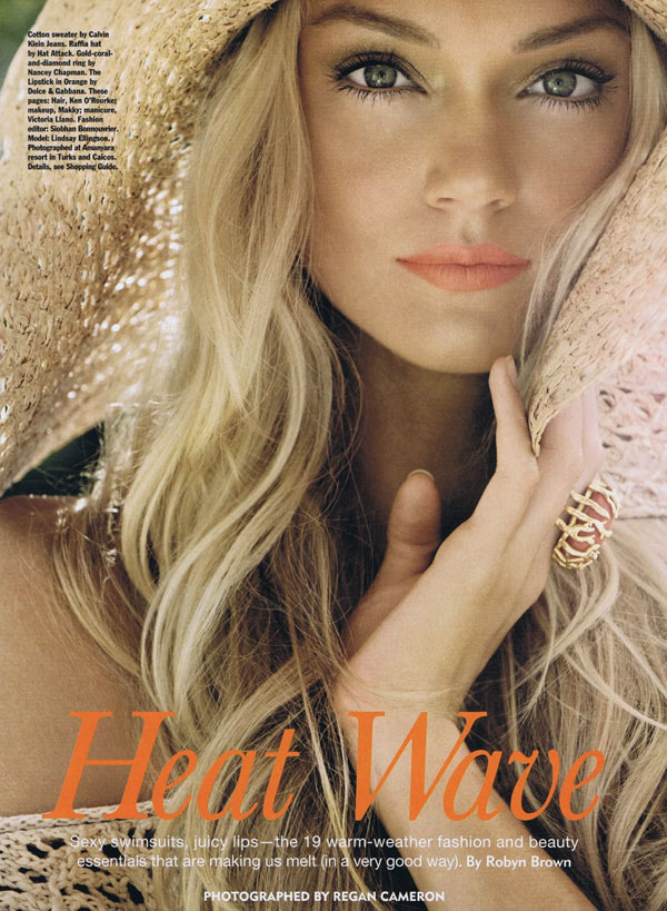 Lindsay Ellingson by Regan Cameron for Allure June 2011