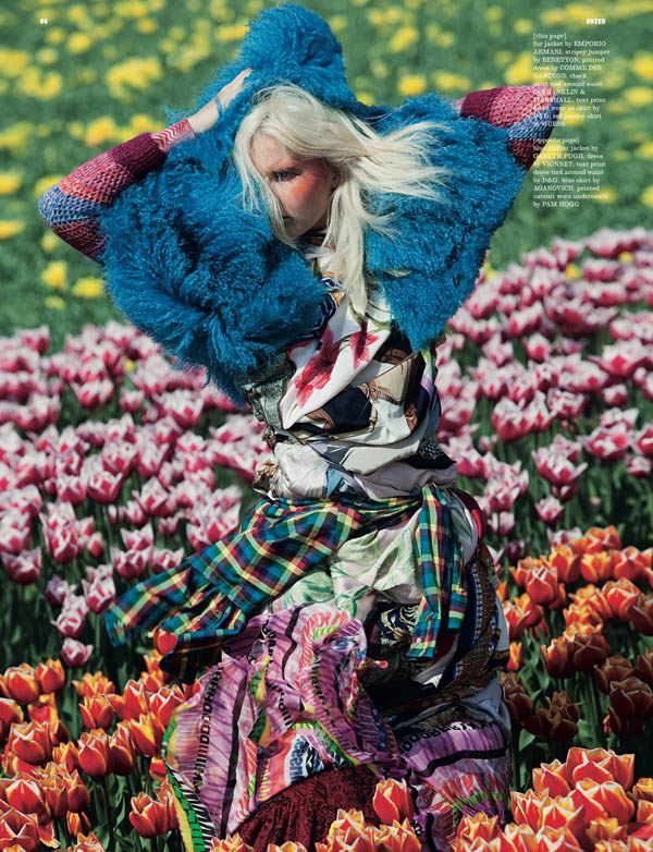 Lisanne de Jong by Viviane Sassen for Dazed & Confused July 2011