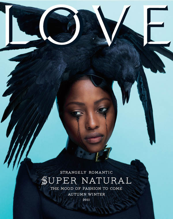 LOVE #6 Fall/Winter 2011 Cover | Nyasha Matonhodze by Mert & Marcus