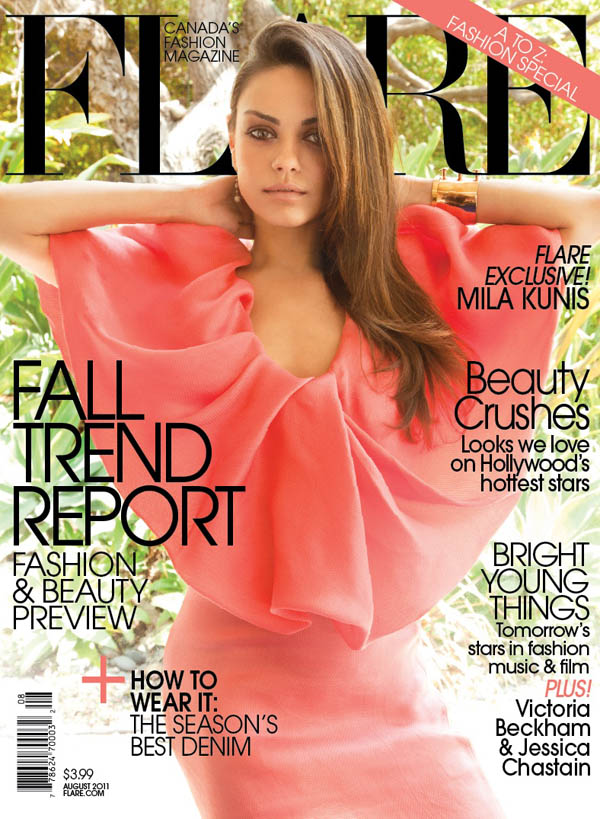 Mila Kunis in Lanvin for FLARE's August 2011 Cover