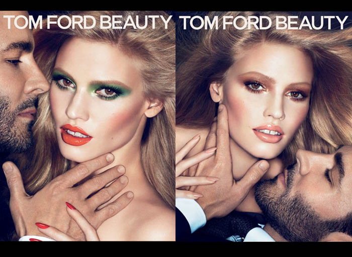 Lara Stone for Tom Ford Fall 2011 Beauty Campaign by Mert & Marcus