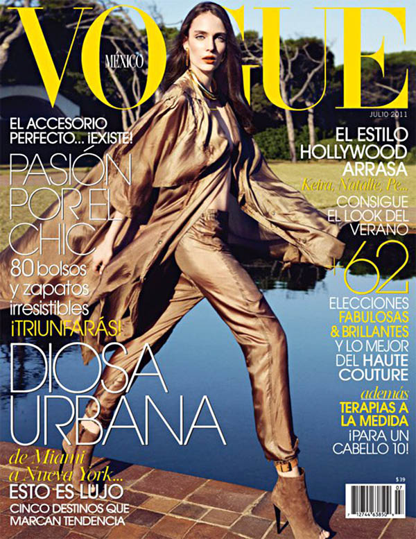 Vogue Mexico July 2011 Cover | Zuzanna Bijoch by Marcin Tyszka