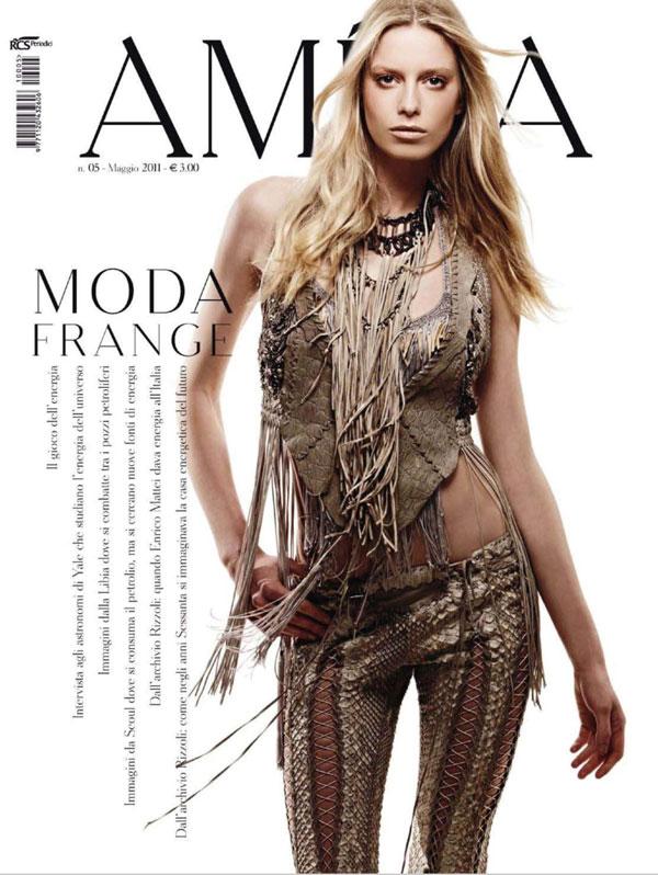 Amica May 2011 Cover | Milana Keller by Nadir
