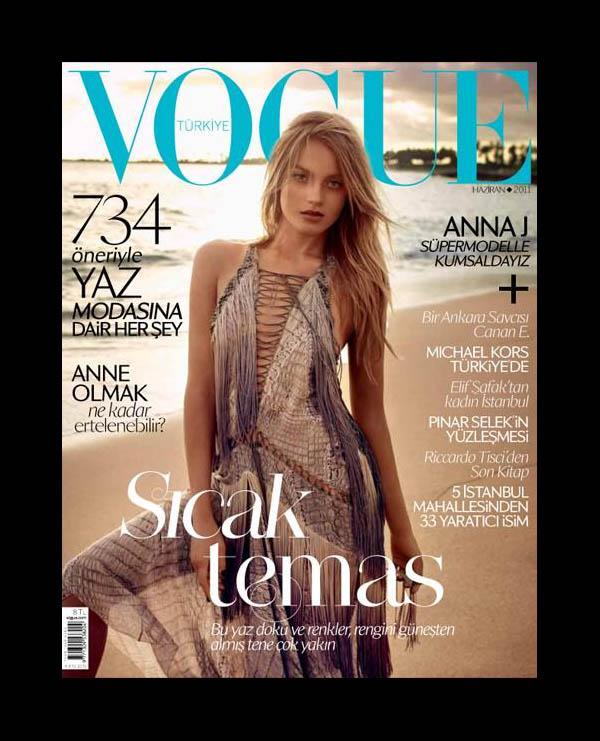 Vogue Turkey June 2011 Cover | Anna Jagodzinska by Mariano Vivanco