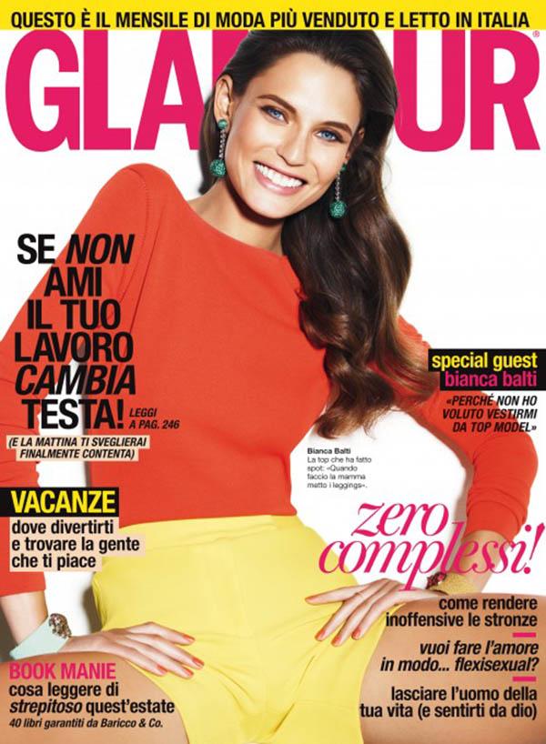 Glamour Italia June 2011 Cover | Bianca Balti by Giampaolo Sgura