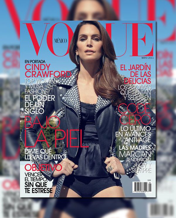 Vogue Mexico May 2011 Cover | Cindy Crawford by Tesh