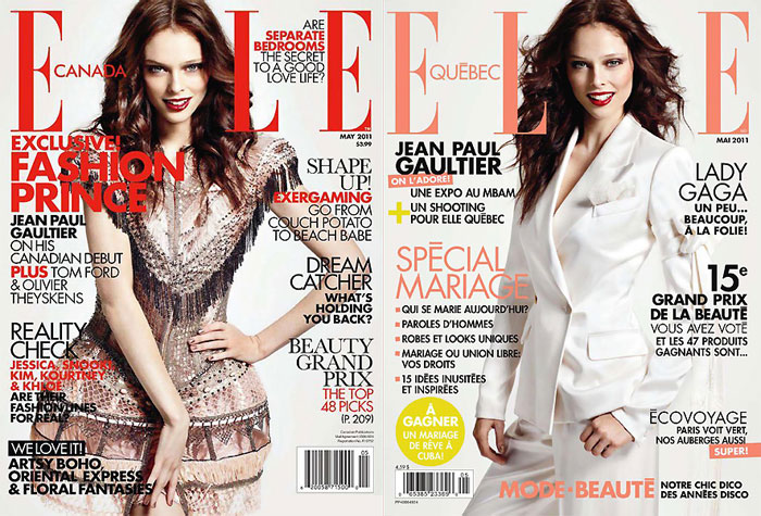 Coco Rocha for Elle Canada & Elle Quebec May 2011 (Covers)
