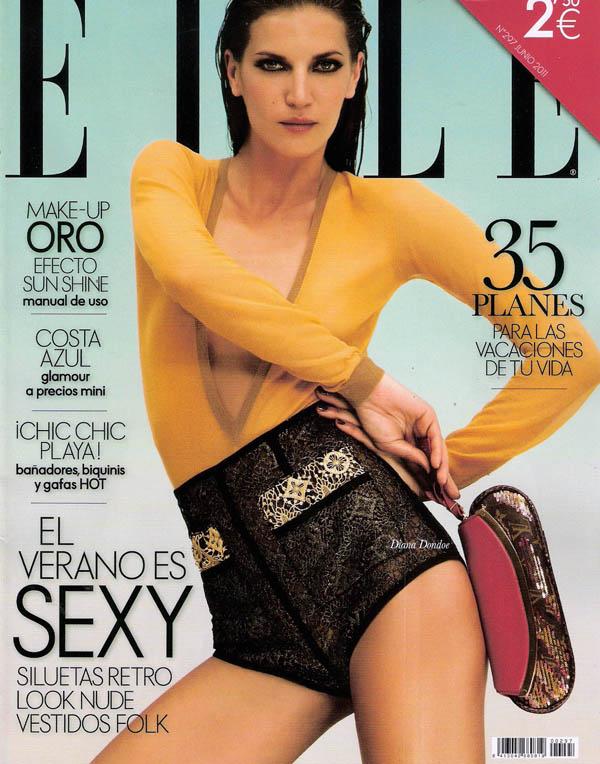 Elle Spain June 2011 Cover | Diana Dondoe by Santiago Esteban