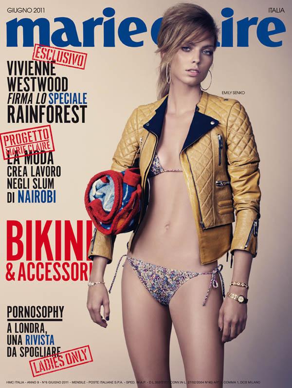 Marie Claire Italia June 2011 Cover | Emily Senko by David Slijper