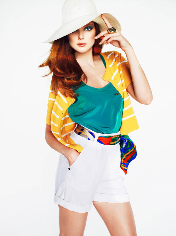 Eniko Mihalik for Mango Color & Stripes Lookbook