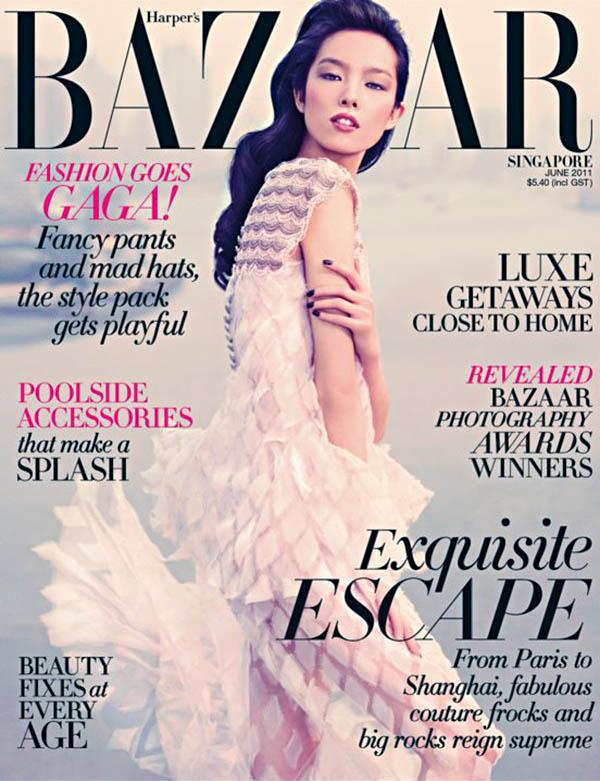 Harper's Bazaar Singapore June 2011 Cover   Fei Fei Sun by Gan