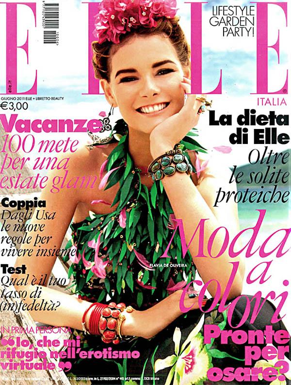Elle Italia June 2011 Cover | Flavia de Oliveira by Marcelo Krasilcic