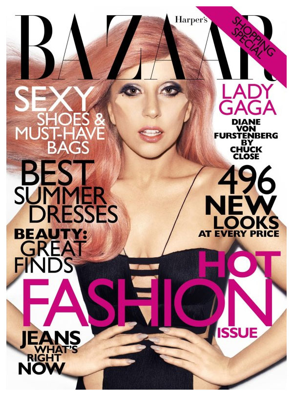 Harper's Bazaar US May 2011 Cover | Lady Gaga by Terry Richardson