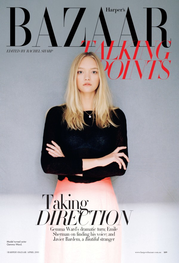Snap! | Gemma Ward by Peter Ash Lee for Harper's Bazaar Australia