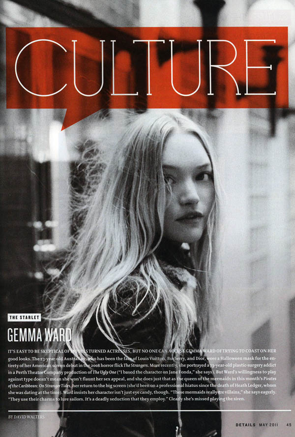 Snap! | Gemma Ward by Peter Ash Lee for Details