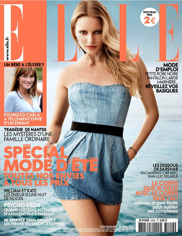 Elle France April 2011 Cover | Ieva Laguna by Takay