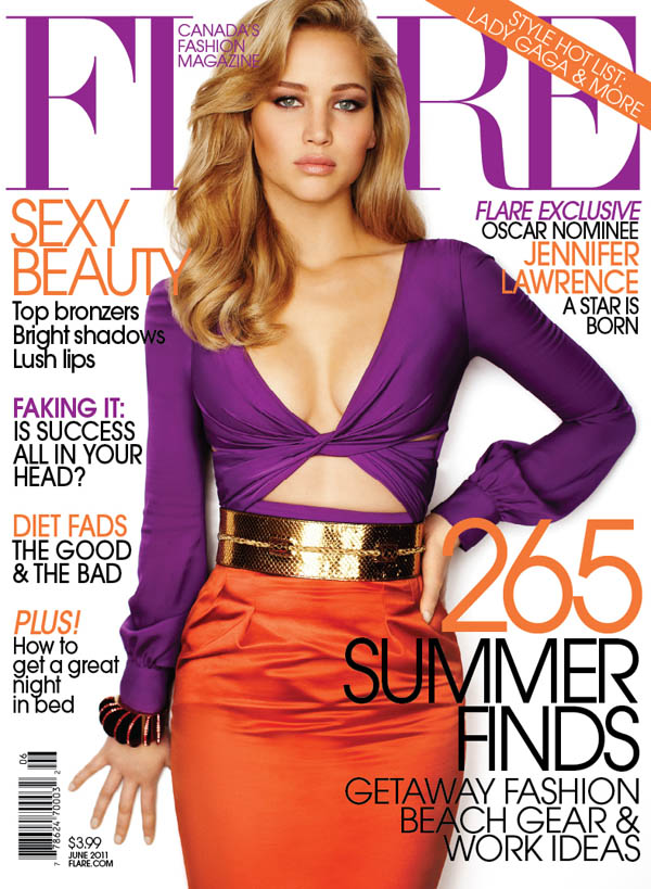 FLARE June 2011 Cover | Jennifer Lawrence in Gucci