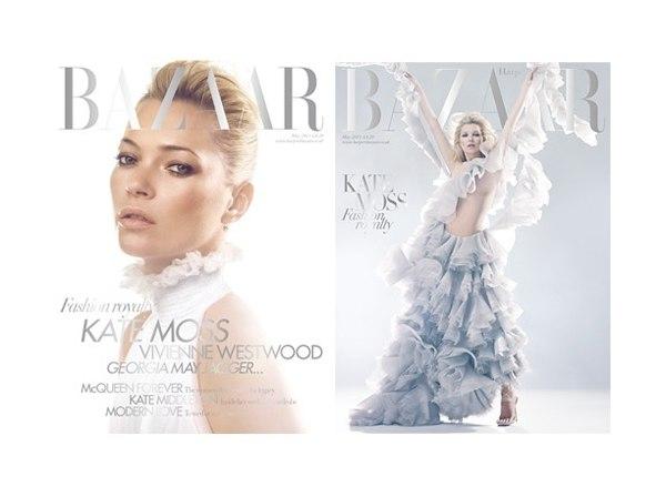 Harper's Bazaar UK May 2011 Cover | Kate Moss by Solve Sundsbo
