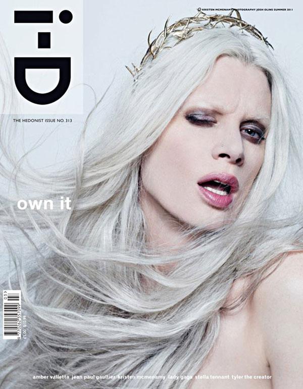 i-D Summer 2011 Cover | Kristen McMenamy by Josh Olins