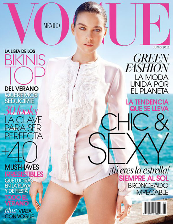 Kim Noorda for Vogue Mexico June 2011 (Cover)