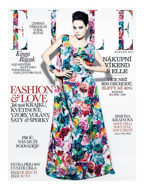 Kinga Rajzak for Elle Czech May 2011 (Cover)