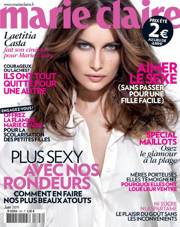 Marie Claire France June 2011 Cover | Laetitia Casta by Olivier Rose