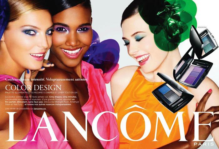 Daria Werbowy, Arlenis Sosa & Elettra W for Lancome Color Design Campaign