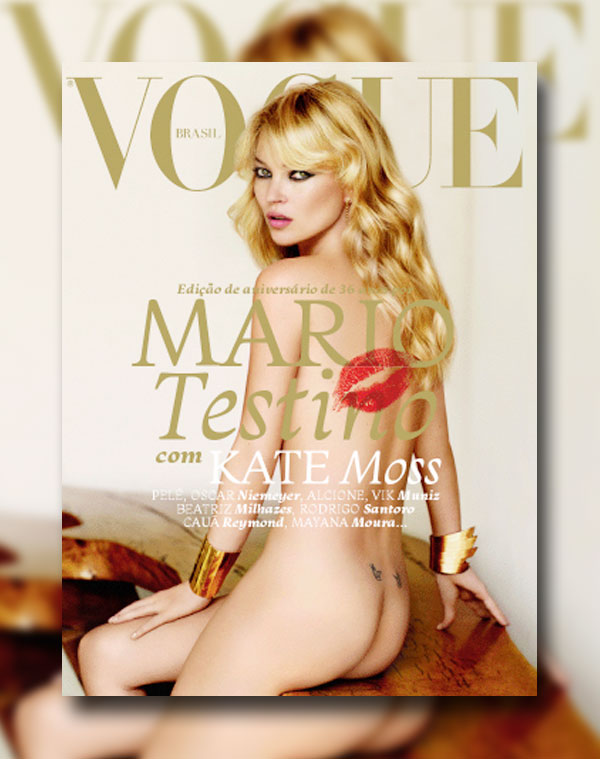Vogue Brazil May 2011 Cover | Kate Moss by Mario Testino