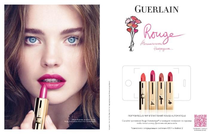 Natalia Vodianova for Guerlain Rouge S/S 2011 Campaign