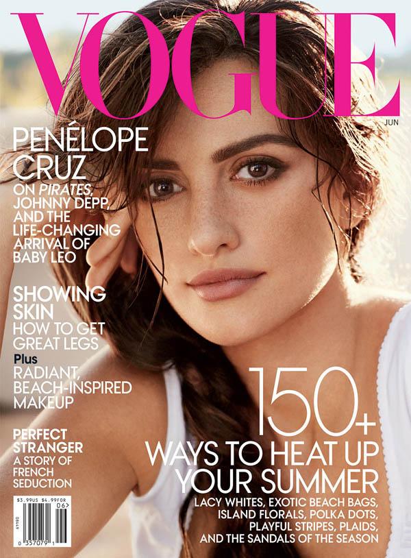 Vogue US June 2011 Cover | Penelope Cruz by Mario Testino