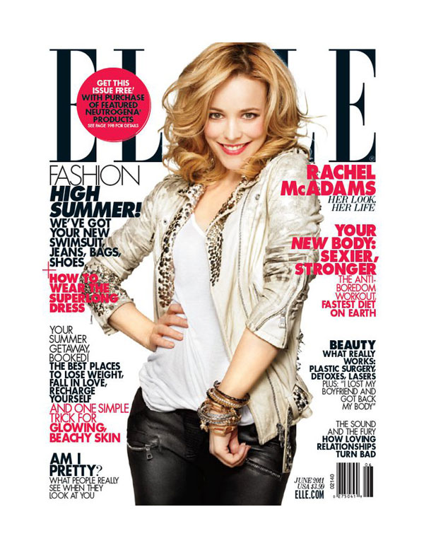 Elle US June 2011 Cover | Rachel McAdams by Alexei Hay