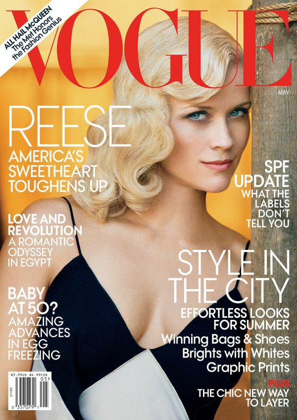 Vogue US May 2011 Cover | Reese Witherspoon by Peter Lindbergh