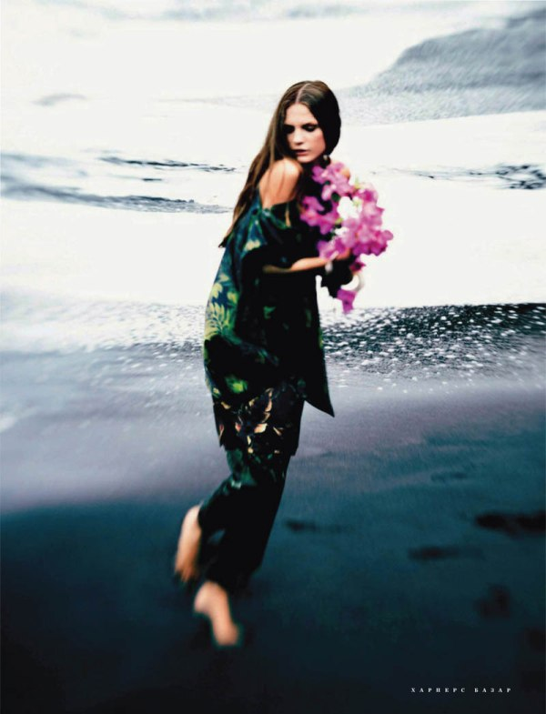 Regina Feoktistova by Serge Leblon for Harper's Bazaar Russia April 2011