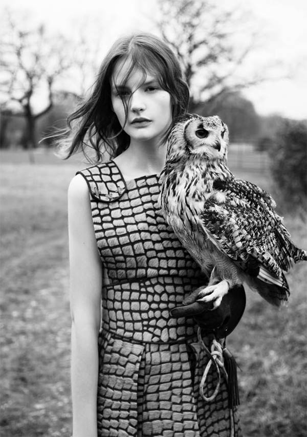 Sara Blomqvist in Rodarte for Twin #4 by Ben Toms