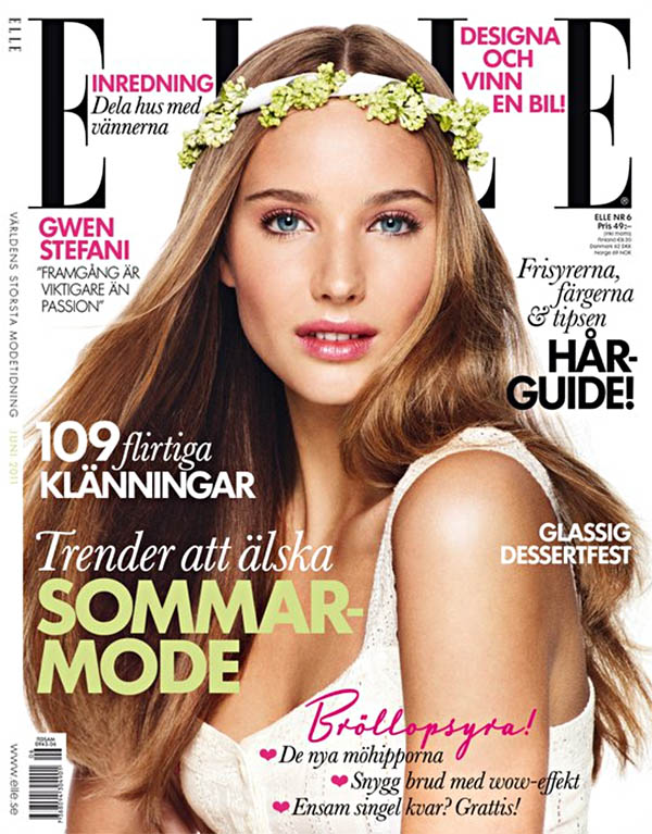 Elle Sweden June 2011 Cover | Siri Crafoord by Jimmy Backius